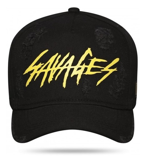 Boné Mais 71 Savages Black Yellow Aba Curva Snapback Mais71