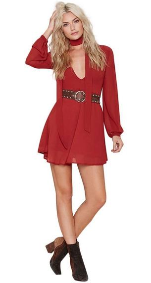 Vestido Importado Corto Rojo Mujer Noche Fiesta 18% Off