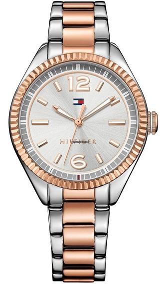 Relógio Tommy Hilfiger Th1781148 Orig Anal Silver Golden!!!!