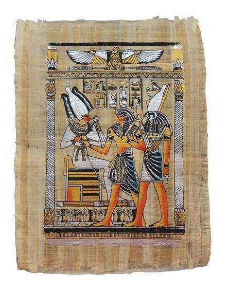 Papiro Egípcio Faraó E Deuses Egito Antigo Pronta Entrega