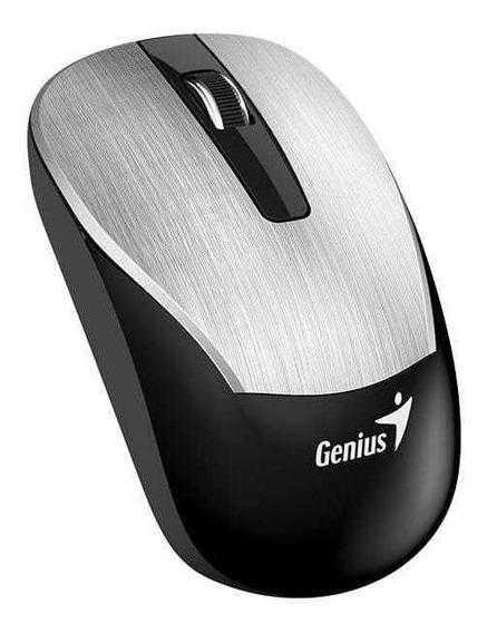Mouse Wireless Genius 31030007401 Eco-8015 Prata 2,4ghz 160