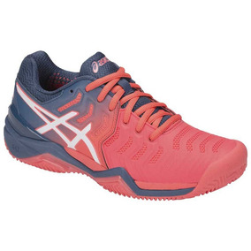 Tenis Asics Gel Resolution 7 Clay - Azul E Rosa