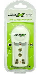 Carregador Flex De Pilhas Aa / Aaa / Bateria 9v Bilvolt
