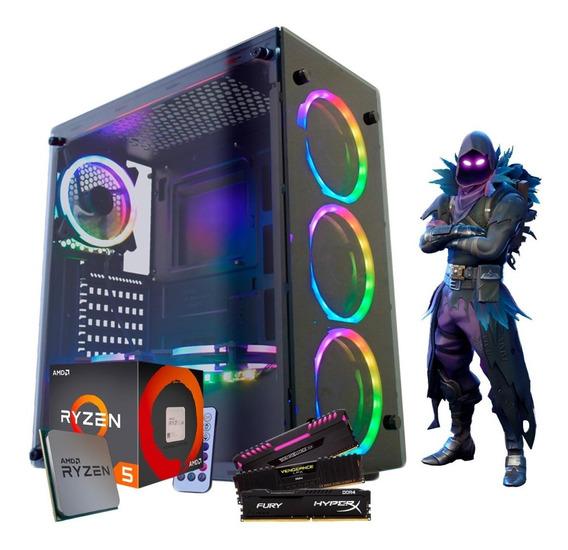 Pc Gamer Amd Ryzen 5 2400g Vega Graphics 11, 8gb Ddr4 Ssd240