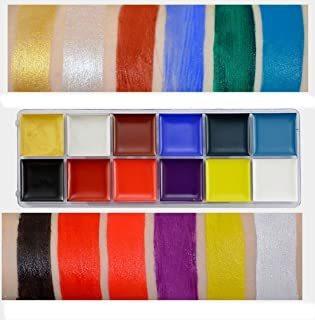 Alacos 12 Colores Cuerpo Pintura Al Óleo Pigmentos Fiesta D