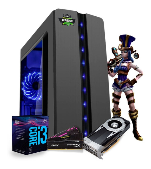 Pc Gamer I3 8100 Z370m Aorus Gaming Gtx 1060 6gb Mem 8gb