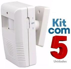 Sensor De Presença Sonoro Sem Fio Ds / Kit Com 05 Unidades