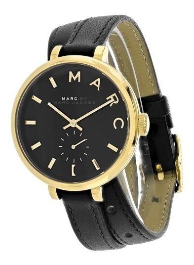 Reloj Marc Jacobs Mbm8663 Negro Dorado Original Dama