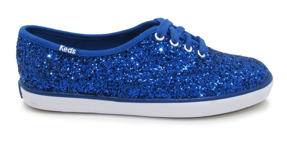 Tenis Keds Wf54536 Ch Glitter Blue Azul
