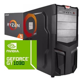 Torre Cpu Gamer Ryzen 5 2600 Gt 1030 1tb 8gb Pc