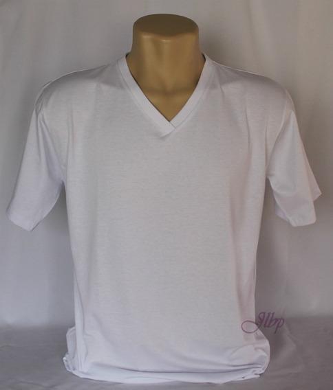 Camisa Gola V Em Malha 100% Algodão 30.1