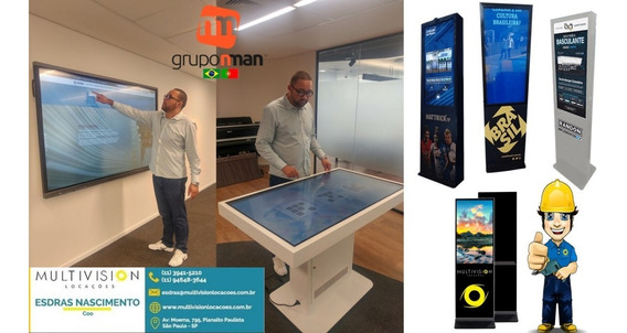 Moldura Touch Screen 48 Frame Multitouch Infra 10 Toques