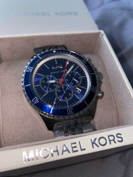 Relógio Masculino Michael Kors Mk8727 Azul Novo Frete Gratis