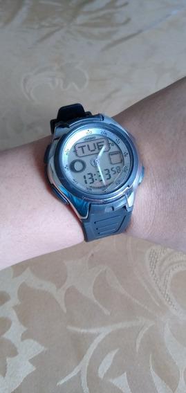 Relógio Casio Aq 162 Com Fases Da Lua Pulseira