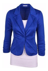 Kit 4 Blazer Feminino, Fashion, Alta Costura, 1 Botão