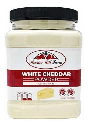Polvo De Queso Cheddar Blanco Hoosier Hill Farm, 1 Libra