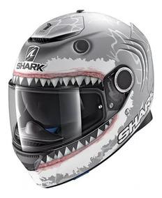 Capacete Shark Spartan Lorenzo White Shark Mat N°60