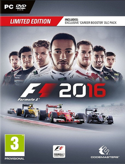 F1 2016 Limited Edition Pc - Steam Key (envio Já)