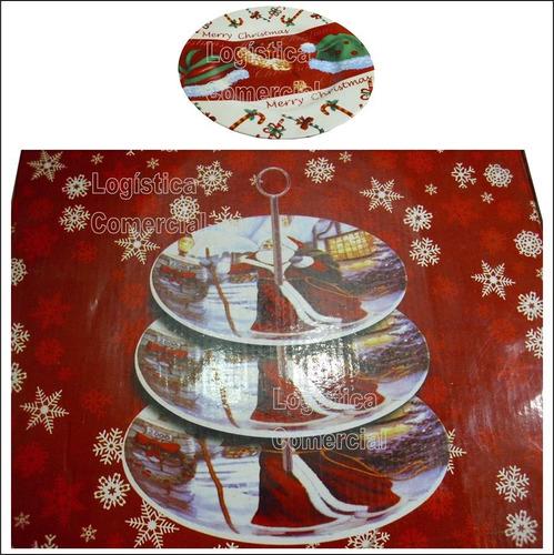 Hermosa Pasapalera De 3 Niveles Navidad Pasapalos Navideñas