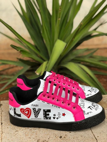 Tenis Casual Feminino Estampado Love