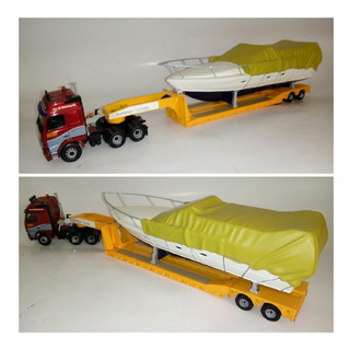 Volvo Fh 540 Axle Low Loader & Boat Load Corgi 1/50.