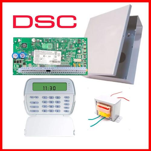 Panel Alarma Casa Central Dsc 1832 + Pk5501 Fuente Gabinete