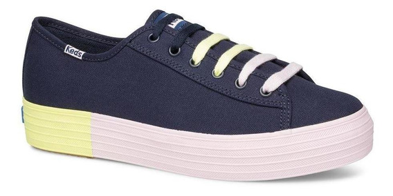 Zapatilla Triple Kick Colorblock Foxing Urbana Azul Keds
