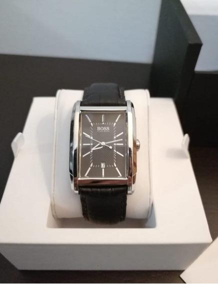 Reloj Hugo Boss Piel Negro Original 1512619