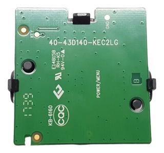 Joystick Placa Encendido 43d140 Tv 55 Smart Noblex Di55x6500