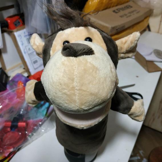 Fantoche Macaco Pelúcia De Mão Teatro Infantil Bebe Criança