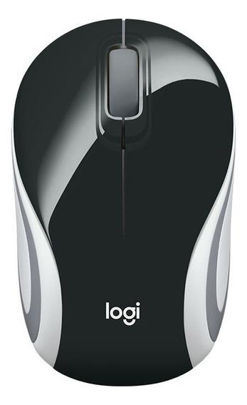 Mini Mouse Logitech M187 Usb S/ Fio Preto