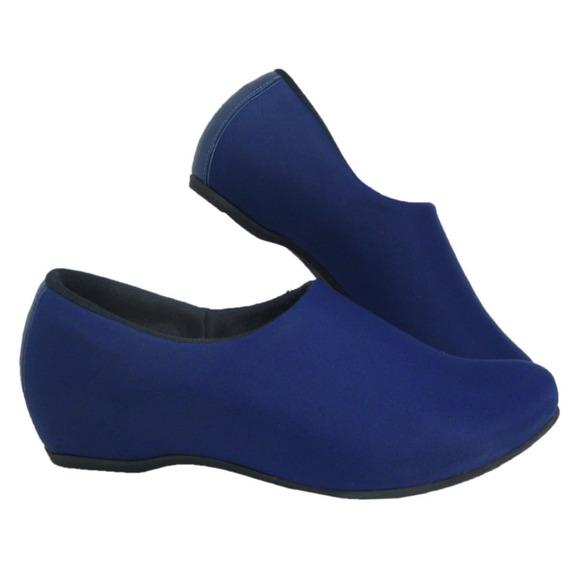Sapato Feminino Fechado Neopreme Confortável Usaflex Azul