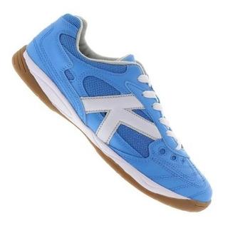 Tenis Futsal Kelme Copa - Azul/branco - Original