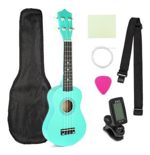 Ukulele Combo 21 Ukulele Black Soprano 4 Strings Uke Hawaii