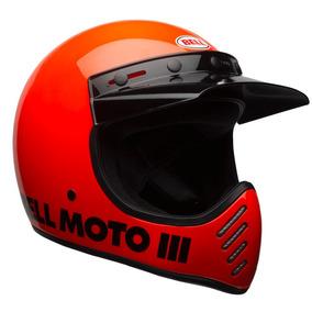 Capacete Bell Moto-3 Classic (fibra De Vidro) Laranja Rs1