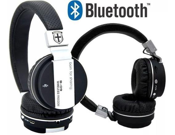 Kit 4 Fones Sem Fio Bluetooth Headset B09 C/ Entrada Cartão