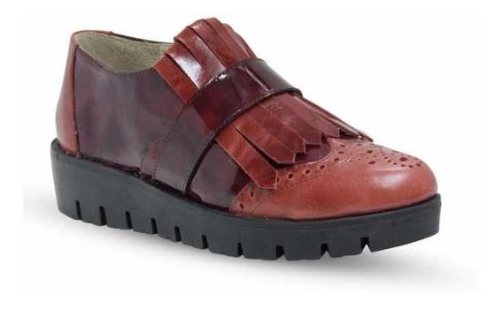 Zapato Charol Flecos 100% Cuero