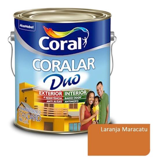 Tinta Parede Externa Coralar Duo Coral Laranja Maracatu 3,6l