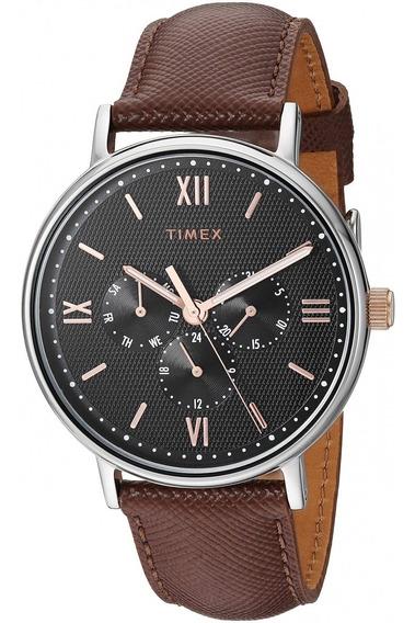 Reloj Timex Southview Hombres 41mm Pulsera De Piel Café