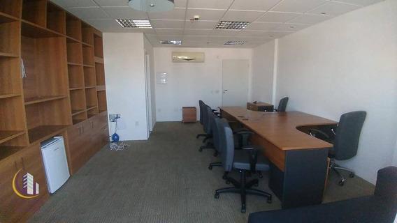 Sala Comercial 39m², Mobiliado, Ar Condicionado E Uma Vaga De Garagem , Vila Yara, Osasco. - Sa0036
