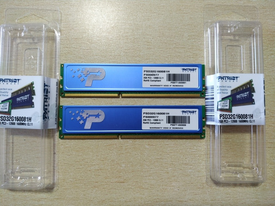 Memoria Ram Patriot 1600 Mhz 2 Gb X 2 Unidades