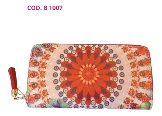 Billetera Símil Cuero Estampado B1007