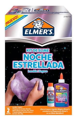 Kit Slime Elmers Noche Estrellada + 5 Charms - Edic Limitada