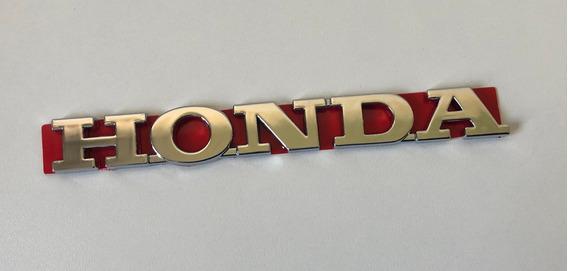 Emblema Letreiro Honda 2009 A 2015 Cromado Civic Fit City