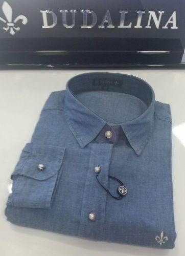Camisa Feminina Dudalina Super Fina Jeans Original 42 46 48