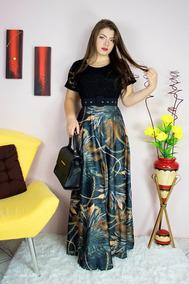 Vestido Feminino Moda Evangélica Longo Digital Leontina Go21