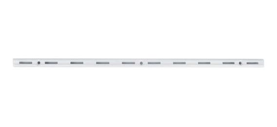 Trilho Para Prateleira Versátil Em Aço Branco 150cm