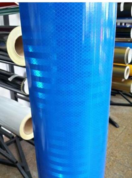 Vinilo Reflectivo Azul 3m - Panal De Abeja Prismatico