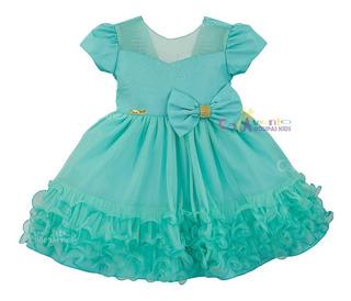 Vestido Festa Infantil Princesa Realeza Sininho Tinker Bell