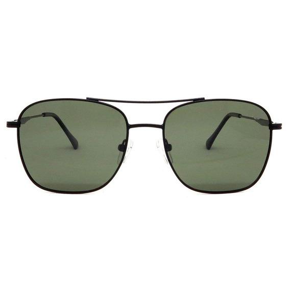 Óculos Unissex Alumínio Preto Polarizado Italiano Siracusa